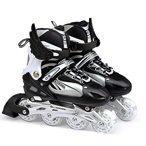 LXLTLB Inline Skates Kinder Erwachsene Inliner 4in1 | Verstellbare Schlittschuhe | Triskates Größenverstellbar ABEC7,XS(27/30)