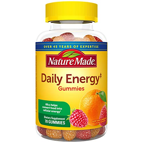 Nature Made Daily Energy Gummies with Vitamin A, C, D3, B12, Biotin, Zinc, 70 Count for Metabolic Health