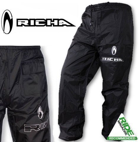 7RW100/6XL - Richa Impermeabile Warrior Tessuto Pantaloni 6XL Nero