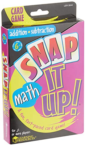 Learning Resources Snap It Up! Math: Addition/Subtraction Card Game, 90 Cards, 2-6 Players, Grades 1+, Ages 6+