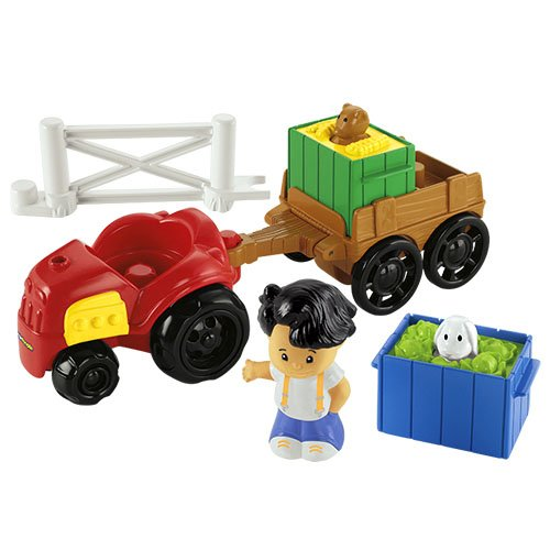Mattel Fisher-Price Y8202 - Little People Traktor und Anhänger