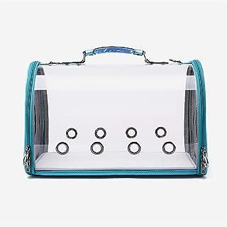 猫キャリーバッグ 防水透湿透明旅行ハンドバッグ、 新しいスペースカプセルデザイン360度観光 猫と小型犬用,ブルー