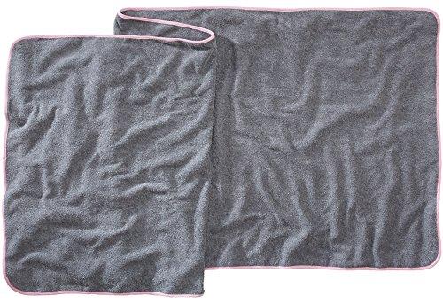 Sowel® Badetuch Groß, Saunatuch aus 100% Baumwolle, Damen und Herren, 220 x 80 cm, Grau/Pink