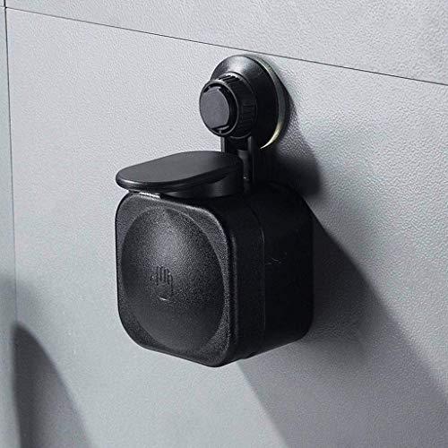 JSMY Dispensador de jabón Montado en la Pared Baño sin Perforaciones Poner Gel de Ducha Champú Dispensador de jabón con Ventosa Grande con loción Loción Sucker-Negro