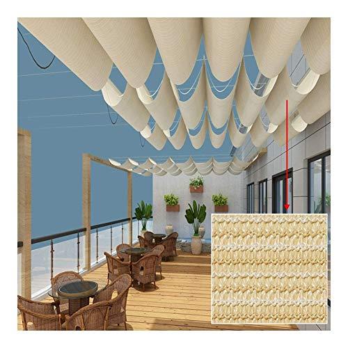 Cubierta De Sombra Extensible, Dosel Retráctil, Pabellón, Enfriador, Tejido Transpirable Resistente Resistente A La Decoloración 90% Anti-UV Mantener La Pérgola, Gazebo Cool