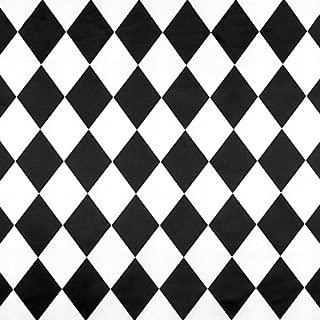 White/Black Harlequin Matte Satin Fabric - by The Yard