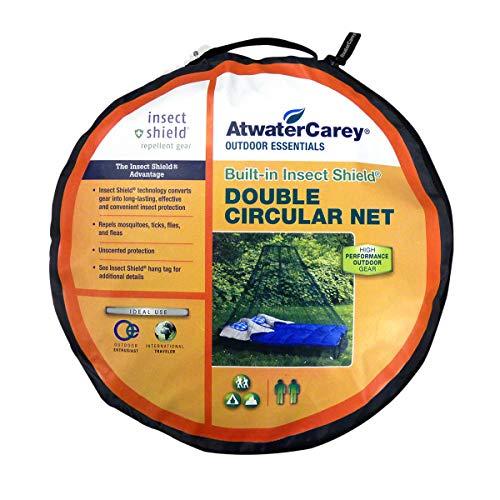 Atwater Carey Moskitonetz für Doppelbett, rund, behandelt mit Insektenschutz, Permethrin