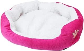 XLY 1 pc Pet Dog Puppy Cat Fleece Warm Bed House Plush Cozy Nest Mat Pad casa para Mascotas Bed Sofa Sleeping Bag Winter Nest Kennel Dogs Home, Hot Pink