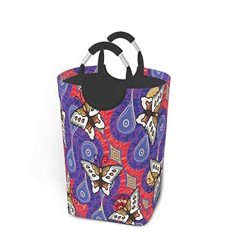 Cesto de lavandería para dormitorio de niños 50 l-3 cestas de lavandería plegables, cesto de ropa sucia, agua azul para piscina, flotador de dos piñas, plegable