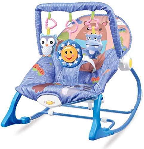 Silla de Columpio para bebé, niña o niño, balancines y hamacas para bebés recién Nacidos hasta 3 años-Azul Evolutions