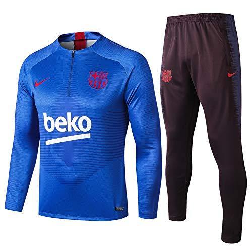 SQUZEA Langärmelig Sportkleidung, Fußball Männer langärmliger Fußballuniform Verein einheitlicher Trainingsanzug Wettkampfanzug (Size : L)