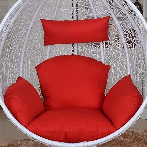 DJQ Cojines para sillas Colgantes, cojín de Asiento de Silla de ratán Colgante de Color sólido con Nido de Abeja en bambú Trenzado y cojín de Silla de ratán de Huevo de ratán Cojín de Cuna Espesa