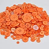 Botón Redondo de plástico Serie roja Botón de Resina de Colores Mezclados Accesorios de Ropa para Ropa DIY 600 Piezas, 600 Piezas de Mezcla Naranja