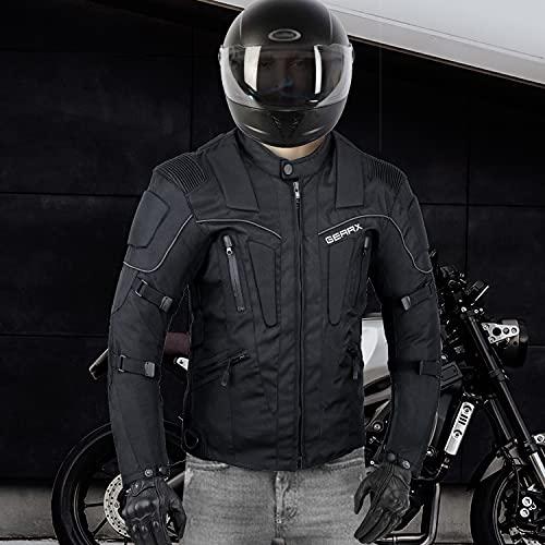 Storm Chaqueta Armadura Protección Moto tormenta con ventila Motocicleta, Medio