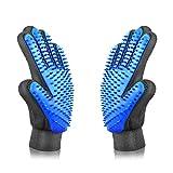 PETINCCN Pet Grooming Glove Gentle Deshedding Brush Bathing Massage Gloves Efficient Pets Hair