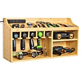 Sunix Large Power Tool Organizer, Upated Tool Storage Cabinet, Drills Wall Mount Holder with 5 Drill Hanging Slots for Garage, Workshop (Power Strip is Not Included)