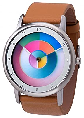 Reloj Avantgardia hurry, arcoriris, unisex, con caja de acero inoxidable de Rainbow Watch GmbH