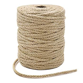 Tenn Well Braided Jute Twine 200Feet 3.5mm Wide Natural Jute Rope for Artworks and Crafts Macrame Projects Gardening Applications  8 Strands