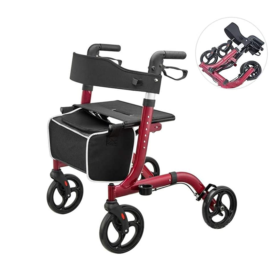 傾くパリティハウジング障害者および老人用の座席と買い物かごを備えた軽量折りたたみ式歩行器