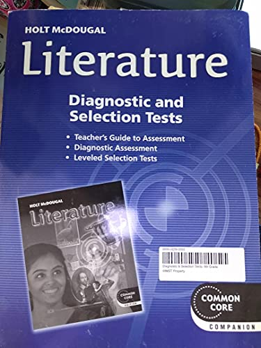 Holt Mcdougal Literature Assessment File Unit And Benchmark Tests Common Core Grade 9