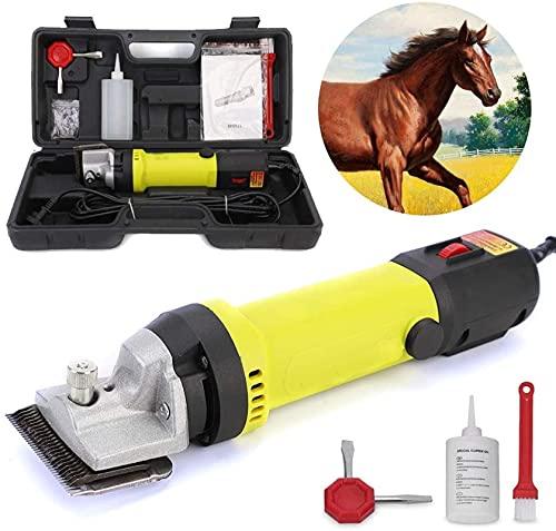NYZXH Clippers de caballos Profesional Animal Eléctrico Kit de aseo 6 velocidades...