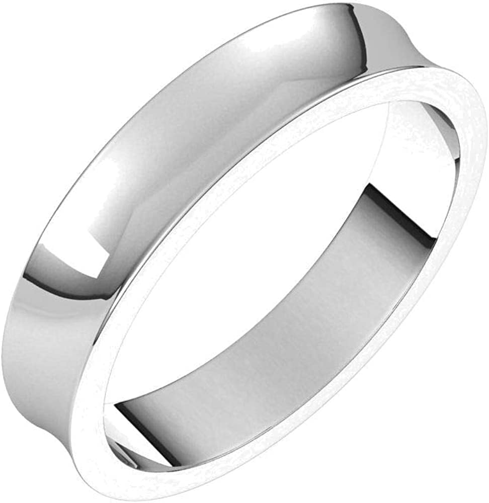 Bonyak Max 49% OFF Jewelry Solid Sterling Silver 4mm Light Boston Mall Concave in Band S