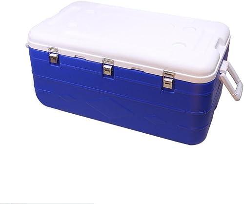 JXS Cooler Box, PU, frigo, Camping, Pique-Nique, thermomètre intégré, Version Améliorée (180litres)