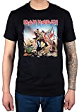 Collectors Mine - Camiseta de Iron Maiden con cuello redondo de manga corta para hombre, color negro, talla XL