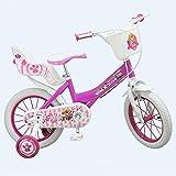 GUIZMAX Compatible avec Vélo Officiel La Pat Patrouille 14 Pouces Disney Enfant Fille