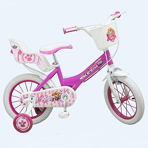 Compatible avec Vélo Enfant 14 Pouces la Pat Patrouille Rose Licence Officielle Disney