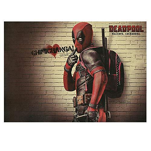 ALTcompluser Retro Motiv Film Poster Promi Wanddekoration Vintage Wandbild Kleinformat Plakat für Wandgestaltung(Deadpool)