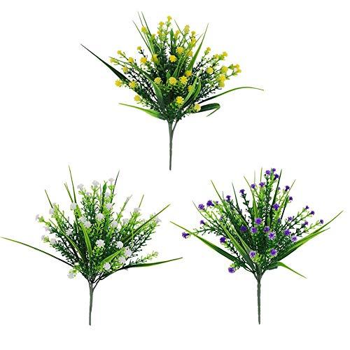 didatecar 3 Paquetes Ramos De Flores Artificiales Bebés Flores De Aliento Plantas De Gypsophila Falsas para La Decoración Casera De La Boda, 30cm