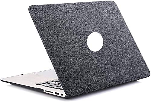 1SourceTek MacBook Pro 13 inch Case 2019 2018 2017 2016 Release A2159 A1989 A1706 A1708 Plastic Pattern Hard Shell And Keyboard Cover Only Compatible with MacBook Pro 13 (Sparkling Gray)