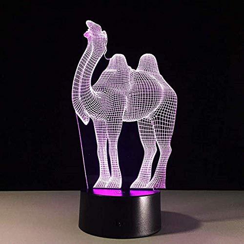 3D LED luz para niños Camel luz USB sensor de movimiento luz powerbank lava lámpara dormitorio noche lámpara nube cumpleaños y vacaciones para niños