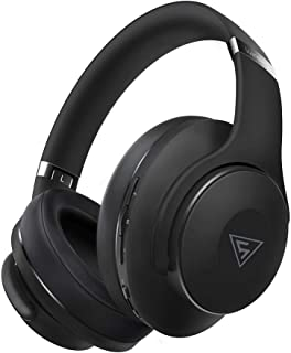 DOQAUS Bluetooth Headphones Over Ear with 3 EQ Modes, 30 Hrs Playtime Wireless Headphones, Foldable Hi-Fi Stereo Bass Headphones, Soft Memory Protein Earmuff, Built-in Mic & Wired Mode for TV/PC/Phone