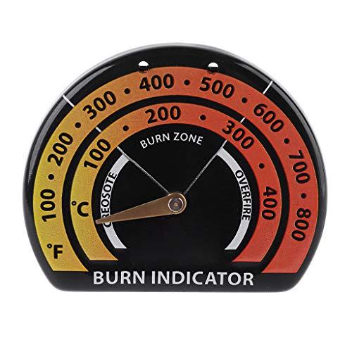 kdjsic Termómetro magnético para Estufa de Madera, termómetro para Ventilador de Estufa para Chimenea, termómetro con sonda de sensibilidad, Horno doméstico, Barbacoa