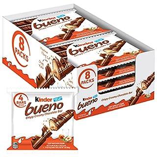 Kinder Bueno Milk Chocolate & Hazelnut Cream Candy Bars, Bulk Halloween Treats, 8 Pack, 4 Individually Wrapped .75 Ounce Bars Per Pack, 8 Count (B0848YC6GM) | Amazon price tracker / tracking, Amazon price history charts, Amazon price watches, Amazon price drop alerts