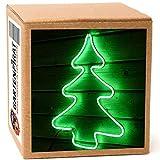 Albero di natale 54 cm da esterno illuminato a LED