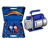 Hewflit電動真空ポンプ エアコンガスチャージキット パイプベンダー マニホールドゲージ 対応冷媒 R22 R134a R404A R410A チャージングホース (2点セット) [並行輸入品]