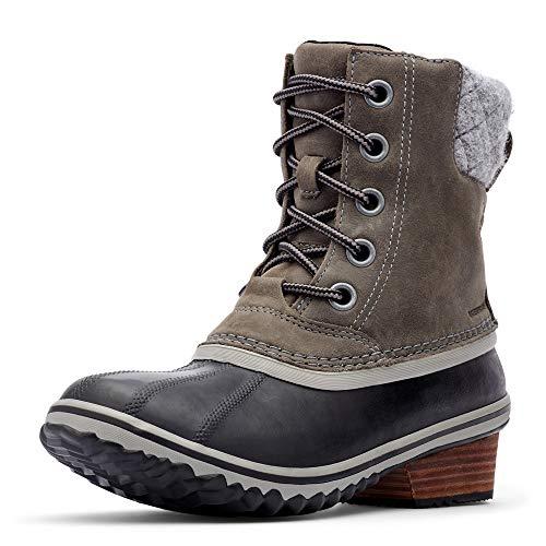 SOREL - Women's Slimpack Lace II Waterproof Insulated Boot, Quarry/Black, 6.5 M US
