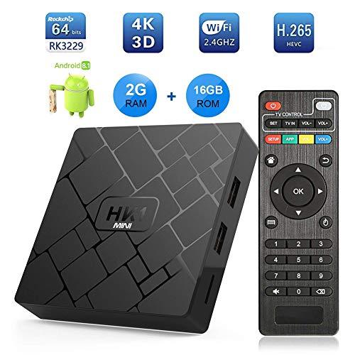 YP Android 8.1 TV Box, 2GB RAM 16GB RAM Mali unterstützt 2.4GHz WiFi mit 4K Auflösung und 100M LAN Enternet Smart TV Receiver für Kartina