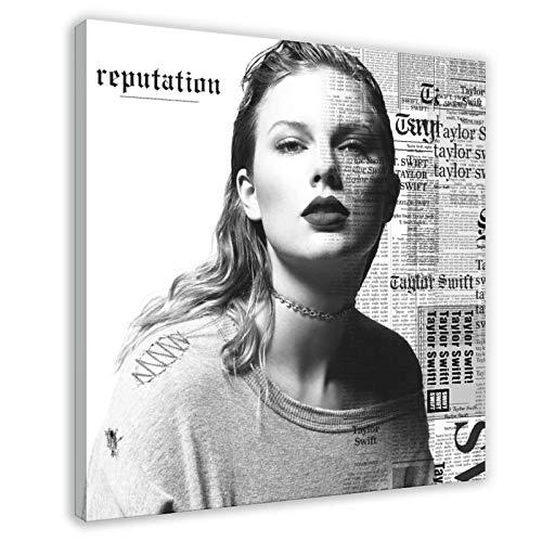 Taylor Swift Reputation - Póster de lona para pared, decoración de salón, dormitorio, 50 x 50 cm, estilo 1