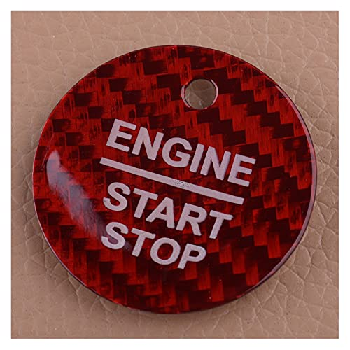 WUSIJIU - Adhesivo para interruptor de parada de motor rojo para Ford F-150 Escort Edge Mondeo Focus Everest Taurus Explorer