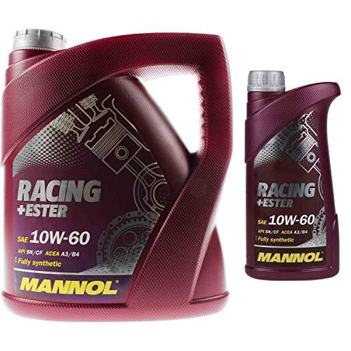 5 Liter OriginalMANNOL Motoröl SAE 10W-60 RACING+ESTER Engine Oil Öl