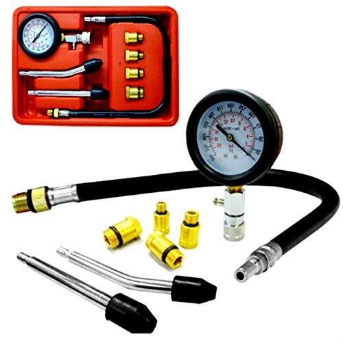 Best Deals! Skroutz Spark Plug Cylinder 8 Pc Compression Tester Test Kit Professional Gas Engine