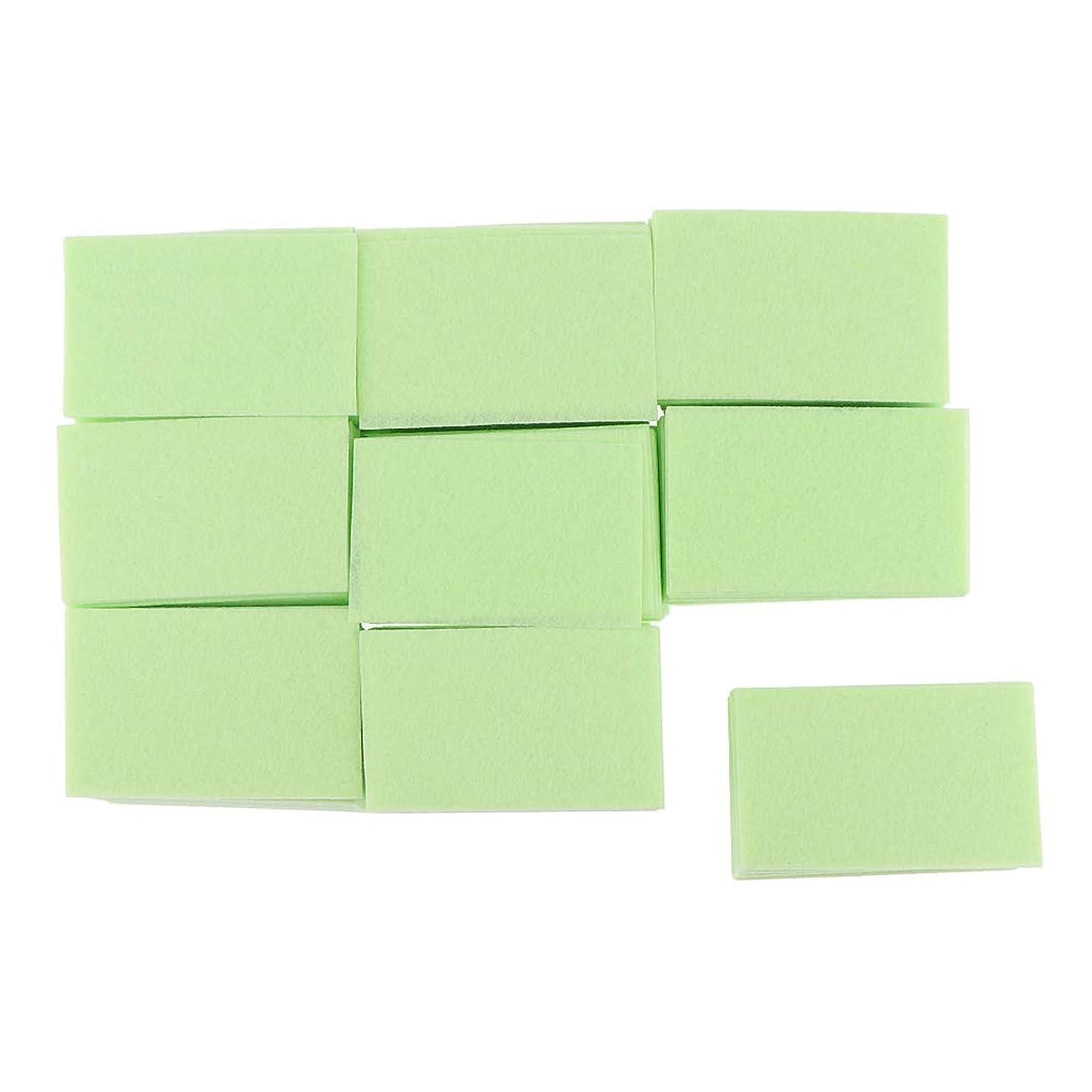 楽しい百万F Fityle 約700枚 ネイルポリッシュリムーバー コットンパッド マニキュア 2色選べ - 緑