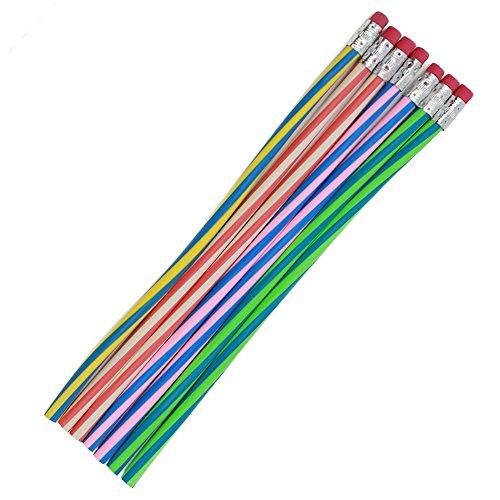 com-four® 7X Zauberbleistift - Flexible Bleistifte - Biegebleistift - biegsame Bleistifte (07 Stück)