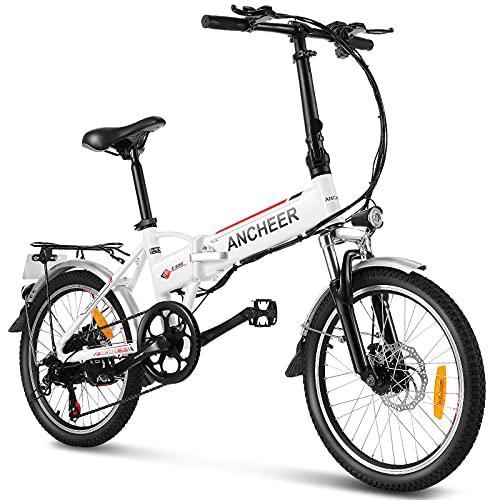 "ANCHEER 20 Zoll E-Bike Pedelec Elektrofahrrad mit Lithium-Akku (36V 8Ah 288Wh), Faltbares Elektrisches Fahrrad mit 250 Watt Motor & Shimano 7-Gang Schalthebel (20\"" faltbar)"