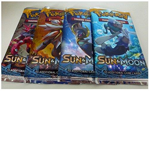 Pokemon Sonne & Mond Serie - ENGLISCHE VERSION - 4 Booster