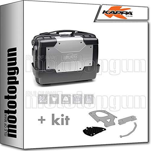 kappa maleta kgr33 garda 33 lt + portaequipaje monokey compatible con moto guzzi v7 iii stone 2020 20